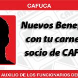 NUEVOS BENEFICIOS con la obtención de tu carnet de socio de CAFUCA