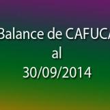 Balance de CAFUCA al 30/09/2014