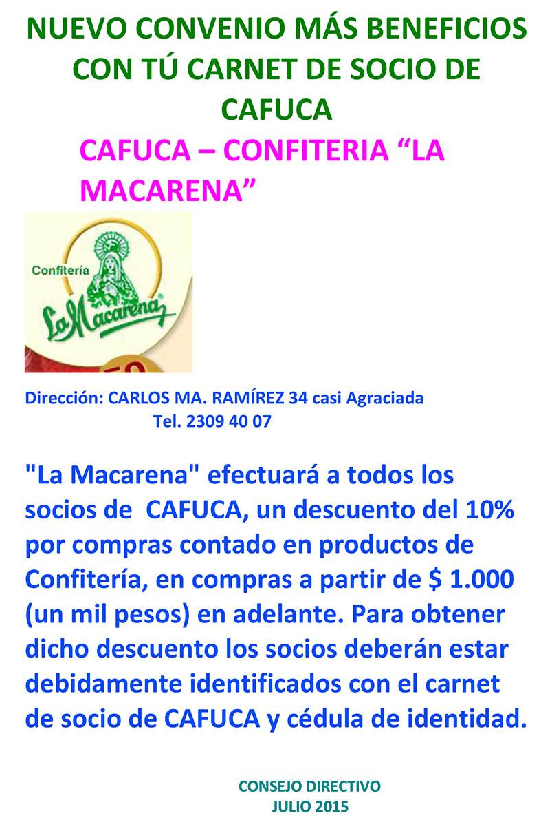 NUEVO CONVENIO MÁS BENEFICIOS CON TÚ CARNET DE SOCIO DE CAFU