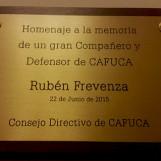 Homenaje de CAFUCA al compañero Ruben Frevenza