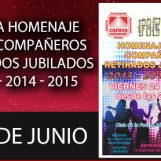 Fiesta Homenaje a los Compañeros Retirados y Jubilados