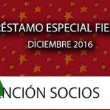 Préstamo Especial Fiestas 2016